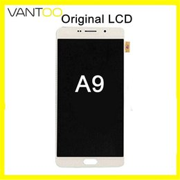 Tela de toque a9 on-line-Tela LCD Original Super AMOLED Display Touch Digitador Assembléia Para Samsung Galaxy A9 Substituição DHL Livre