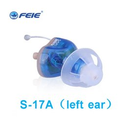 Wholesale Battery For Amplifier - Best Hearing Aids Digital Volume Adjustable Sound Amplifier Listening Aid Behind Ear With Batteries Free Shipping S-17A for Left Ear