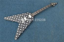 Wholesale Guitarra Custom Shop - New store opening 2015 custom shop guitar guitarraOEM large fork black and white dots guitarra   guitar China