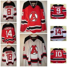 Wholesale Hot Rod Sales - Mens Womens Kids AHL Albany Devils 18 JS Berube 10 Rod Pelley 100% Embroidery Custom Any Name Any No. Hot Sale Ice Hockey Jerseys Goalit Cut
