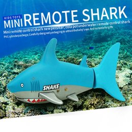 Wholesale Toy Submarines Rc - Wholesale- Create Toys 3CH RC Submarine Shark 40Mhz Radio Remote Control Mini Electronic Shark Model Toys for Kids Children Birthday Gift