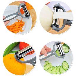 Wholesale Multifunctional Vegetable Fruit Peeler - Multifunctional 360 Degree Rotary Carrot Potato Peeler Melon Gadget Vegetable Fruit Turnip Slicer Cutter Kitchen Cooking Tools
