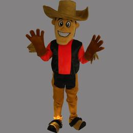 Wholesale Mascot Human - Custom-made COS Cute Cowboy Mascot Costume Cool Boy Party Dress Xmas Holloween Mascot Adult Size Human Costume