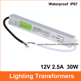 Wholesale Dc Transformer For Led Strip - AC DC 12V 2.5A Lighting Transformer Power Supply 12V 30W LED Driver Waterproof Adapter IP67 For Light Strip