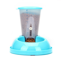Wholesale Dog Feeder New Eco Friendly Food Grade Plastic Auto Dog Feeder Feeding Bowl For Dogs And Cats Various Colors To Choose Pet Feeders