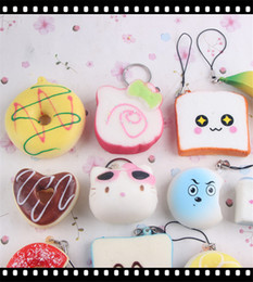 Wholesale Pretend Play Kids - Wholesale Donut Bread Squishy Squishy Charm Kawaii Squishies Wholesale Educational Toys For Children Pretend Play Toys