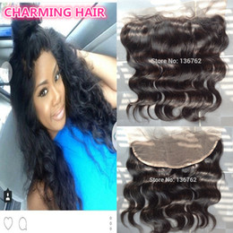 Wholesale Cheap Closure Hair - 13x4 Lace Frontal Closures 100% Unprocessed Brazilian Body Wave Virgin Human Hair Cheap Lace Frontals Free Part With Bleached Knots FreeShip