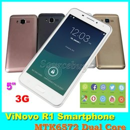 Wholesale Gps Wifi Smart Mobile Phone - FHD Screen Mobile phones R1 MTK6572 Dual Core Dual SIM 5 inch 512MB 4GB Smart-wake 3G Unlocked GPS WhatsApp Wifi BT Android Smartphones