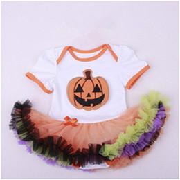 Wholesale Ruffle Onesie - Posh Baby Girls Clothes ,Halloween Baby Romper ,Pumpkin Newborn Onesie tutu ,Chiffon Ruffle tutu skirt Baby Romper