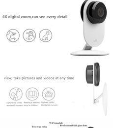 Wholesale Lens Webcam Wifi - Hot Sale Original Xiaomi Yi Smart Home Camera 2 Full HD 1080P Xiaoyi IP Webcam Camera 2 Night Version Wifi Mini Wireless Camera