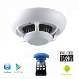 Wholesale Wireless Recording Cctv - FHD1080P WIFI IP Camera Smoke Detector Model With Spy Hidden CCTV Camera Support IR Night Vision,Video Recording in Darkness, IOS Android