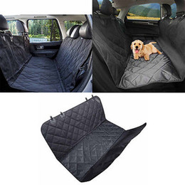 Wholesale Dog Car Hammocks - 145*135Cm Pet Back Seat Cover Dog Mat Safety Waterproof Durable Comfort Seat Hammock Non Slip Protection Pet Car Supplies Black Brown YYA339