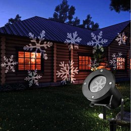 Wholesale Red White Strobe Lights - Outdoor Holiday Light LED Snowflake Projector Color White Red Green Blue Waterproof IP64 Snow Christmas Lights Laser Show