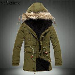 Wholesale Cheap Warm Clothing - Wholesale- Men'S Parkas Men Winter Cheap Down Jacket Fur Coat Causal Long Male Warm Mens Duck Parka Homme Park Brand Clothing Erkek