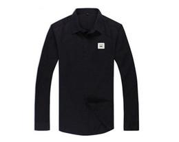 Hombres camisas de vestir Camisas de solapa de manga larga Camisas de solapa camisas formales lisas camisas de un solo pecho precios de primera mano desde fabricantes