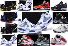 Wholesale Genuine Leather Boots For Cheap - Wholesale Retro 4-5-6-7-8-11-12-13 Men Woman Basketball Shoes Cheap 4s Boots Authentic Online For Sale Sneakers Men Woman 4 IV Sport Shoes