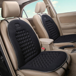 Wholesale Car Seat Therapy - LUNDA Car Auto Cushion Therapy Massage Padded Bubble Foam Chair Comfort polychrome Seat Pad Cover(Black Gray beige)