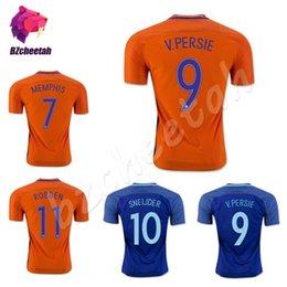 Wholesale European Shorts - Nederland Jerseys 2016 European Cup soccer orange netherlands JERSEY ROBBEN SNEIJDER V.Persie 16 17 Dutch football shirts Free Shipping