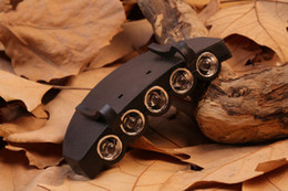 Wholesale Light Clips Hat - 5 Leds Cap Hat Light Clip-On 5 LED Fishing Camping Head Light HeadLamp Cap with 2* CR2032 cell Batteries