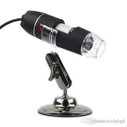 Wholesale Mp Endoscope - 2015 Time-limited New Arrival Monocular Microscopes Portable Usb Digital 50-500x 2.0 Mp Microscope Endoscope Magnifier Camera 8 Led
