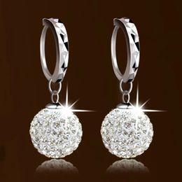 Wholesale Full Earrings - s925 Silver Shambhala full diamond earrings earrings princess ball earrings earrings female factory wholesale