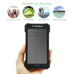 Wholesale External Battery For Blackberry - Real 8000mAh Capacity Solar Dual USB Backup Battery Charger Portable Power Bank External Power Pack for iPhone iPod Samsung Smart Phone