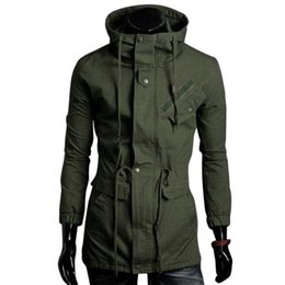 Wholesale Spring Military Jacket Men - 100% Cotton Paul Jones Mens Windbreaker Jacket Autumn Spring Male Casual Trench Coat Brand Mens Green Military Jacket