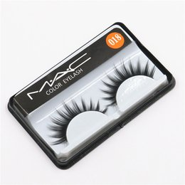 Wholesale handmade brands - Hot Sale Brand False Eyelashes Handmade Natural Long Curl Thick Fake Eye Lash Extensions Black Color Eyelash Eye Makeup Reusable Lashes #018