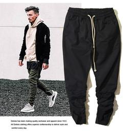 Wholesale Harem Pants Zippers - Fashion Icon All-match elastic trousers zipper Rick owens casual Jogging Harem pants men Kanye casual jogger pants Man