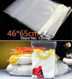 Wholesale Garment Bags Clear - 46*65cm big size clear plastic zipper sealed plastic garment packing bag