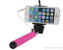 Wholesale Cable Remote Shutter Camera - Z07-5S Extendable Selfie Stick Monopod Tripod Camera Remote Shutter Handheld Wired Cable Take for iphone 5S 6S Samsung S7 S6 edeg HTC LG