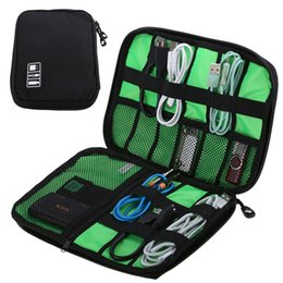 Wholesale Usb Baseball - Waterproof Outdoor Travel Kit Nylon Cable Holder Bag Electronic Accessories USB Drive Storage Case Camping Hiking Organizer Bag