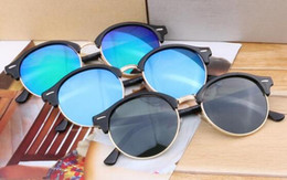 Wholesale Metal Half Frame Sunglasses - 10PCS summer newest women fashion metal SUN glasses travel driving sunglasses Bicycle Glass ladies half glasses 8color A+++ free shipping