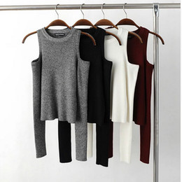 Wholesale fan sweaters - 2016081109 2016 Sale New Women Sweaters And Pullovers Tt38-aa036 Fan In Europe Fashion Sexy Strapless Crewneck Sweater