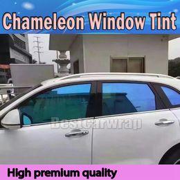 Wholesale Performance Mirror - Blue High-performance Chameleon Window Tint Film Car Film PET Window Tints For Auto Window Graphics Free Shipping VLT 60% SIZE 1.52X30M