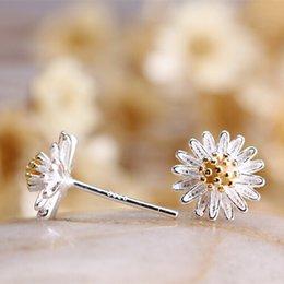 Wholesale Earrings Chrysanthemum - 12Pcs Lot Hot Sale Women 2016 Classic Trendy Chrysanthemum Earrings 925 Sterling Silver Fashion Jewelry Brand New Stud Earrings Free Ship