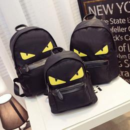 Wholesale American Girl School Backpack - Fashion Women backpacks Women men travel backpack women school bags for teenagers girls mochilas Monster Black Nylon backpack student bag