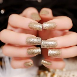 Wholesale Tips For Acrylics Nails - New 24pcs Pack False Nails French nails Fake Nails for Nail Art Design Nail Tips Faux Ongles Mixed Colors Acrylic Full Cover Nail Tips