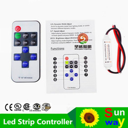 Wholesale High Quality Dimmers - Led Controller 11key wireless DC5-24V mini dimmer RF remote control for single color led strip 5050 3528 high quality