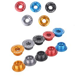 Wholesale Road Bicycle Chain - Wholesale-1pcs 18mm 20mm MTB Mountain Bikes Road Bicycles Axis Color Crank Chain Wheel Screws Parts Highway Dental Plate Screws