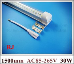 Wholesale Led 156 - super bright compact (integrated) fluorescent LED tube light lamp T8 1500mm 1.5M 5FT 30W 3300lm SMD2835 156 led AC85-265V CE