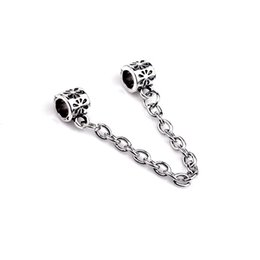 Wholesale Steel Pandora Charms - 925 Silver Charm Bead chain for Pandora Bracelets Women Bangles metal alloy accessory for pandora