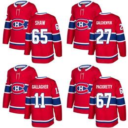 0dfcee27a 2017 New Brand Mens Montreal Canadiens 11 Brendan Gallagher 27 Alex  Galchenyuk 65 Shaw 67 Pacioretty Red Ice Hockey Jerseys Accept Custom