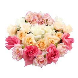 Wholesale Elastic Wedding Headband - 2016 Wholesale Hair Accessories Full Bloom Melon Champagne Off White Pink Rose Braided Elastic Bohemian Wedding Floral Garland Headbands Set
