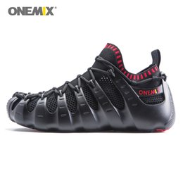 Wholesale Golf Sandals Men - ONEMIX Man Roma Boots for Men All Match Fashion Trends Casual Shoes Outdoor Sandals Gym Running Socks Shoe Unique Trainers Walking Sneakers