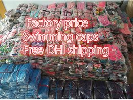 Wholesale Sports Cap Low Price - Free DHL lower price swimming caps Fashion floral water sports swimming hats Gear Swimming Hat Swim Bathing Shower cover for Ear protection
