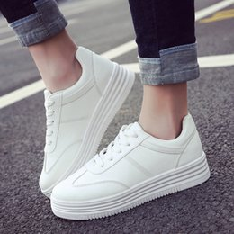 Wholesale United Plastic - 2017 New Spring Thick White Shoes Explosion-proof Series of Flat-bottomed Casual Shoes Europe and The United States Pure Color Pine Shoes