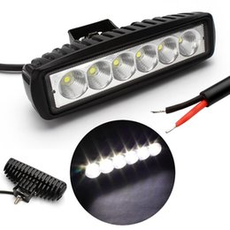 Wholesale Driving Light Led Amber - 10-30v 18W White amber Spot beam LED Work Light Bar for Indicators Motorcycle Driving Offroad Boat Car Truck 4x4 SUV