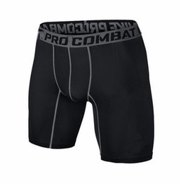 Wholesale Skinny Pant Knee Length - S-XXL shorts PRO Short Men Slim Fitted compression Active shorts Sweatpants Bodybuilding Combat Dry Leggings men short pants