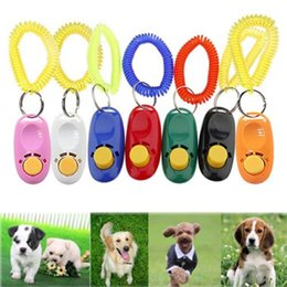 Wholesale Dog Pet Trainer - Pet Click Training Obedience Trainer Wrist Strap Clicker Aid for Dog Bird Cat